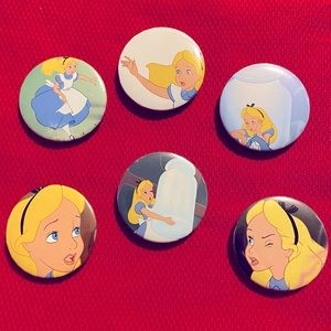 "Alice in Wonderland""down the rabbit hole""6 pin set"